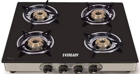 Eveready TGC4B 4 Burner Glass Top Gas Stove