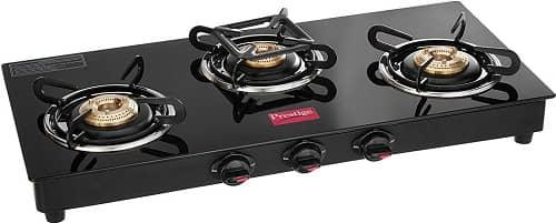 Prestige Marvel Glass top 3-burner gas stove