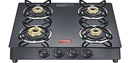 Prestige Marvel Plus Glass 4 Burner Gas Stove